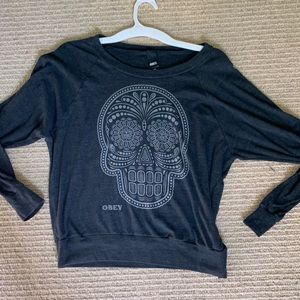 Obey Sugar Skull Crew Neck